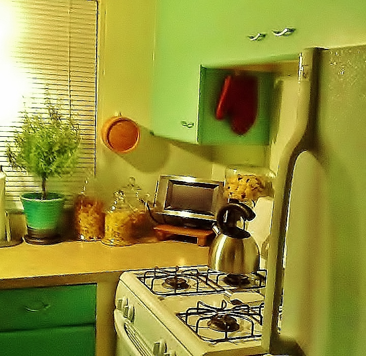 A bright and cheerful kitchen color lifts the spirits and stimulates creativity.