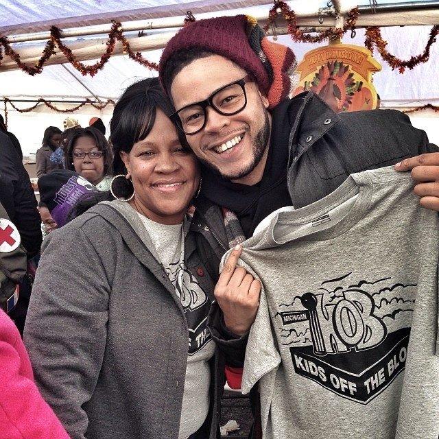 """Diane & Malone """"Feed A Teen"""" 11-2013 (Courtesy: Kids Off The Block)"""