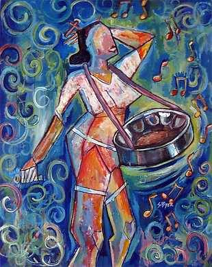 """""""I like looking at something bare and visualizing what it can become, I like seeing color where it does not exist and making something inanimate come alive."""" -Carnival Spirit by The Art of Stacey Byer #caribbeanart #KROMA"""