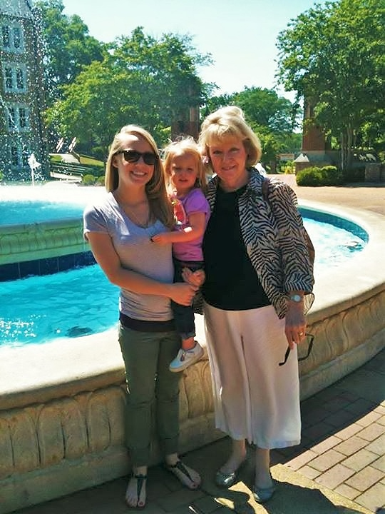 Barbara with Grand-daughter Megan and Great-grand-child Maddie