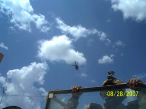 Apache flying CAS over Chawney