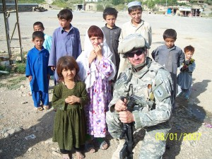 Me with children in Chawne